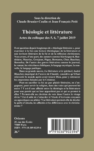 4eme Théologie et littérature