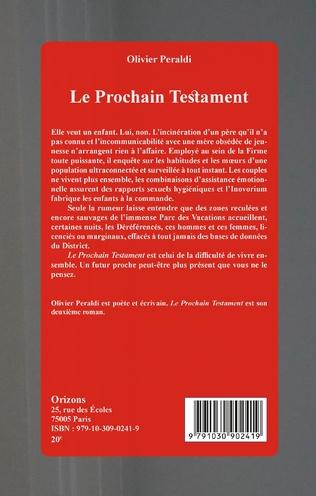 4eme Le prochain Testament