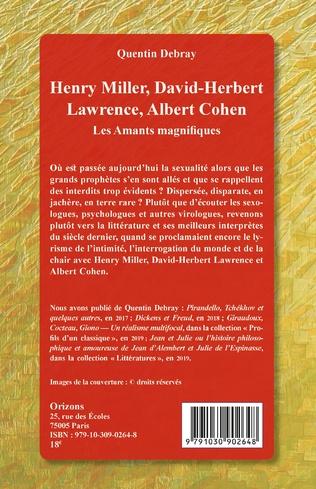 4eme Henry Miller, David-Herbert Lawrence, Albert Cohen