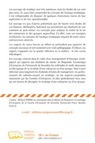 4eme L'analyse stratégique de trois groupes : Danone, McDonald's et Salomon
