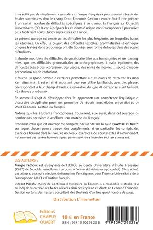 4eme Maîtriser les difficultés du français pour réussir ses études de Droit-Economie-Gestion