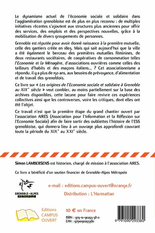 4eme Aux origines de l'économie sociale et solidaire à Grenoble au XIXe siècle