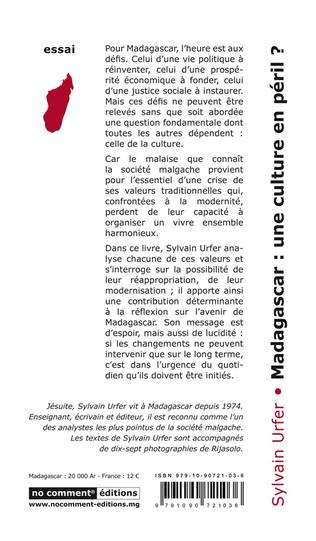 4eme Madagascar une culture en péril ?