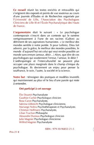 4eme Les Nouvelles Figures du psychologue clinicien